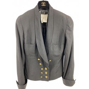 Vintage Chanel Wool Fitted Blazer